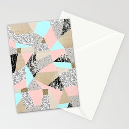 Geo Lights Stationery Cards