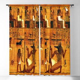 Book of the Dead - Ancient Egyptian Hieroglyphs - The Papyrus of Ani - Oil painting  Blackout Curtain