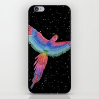 parrot iPhone & iPod Skins featuring Parrot by Luna Portnoi