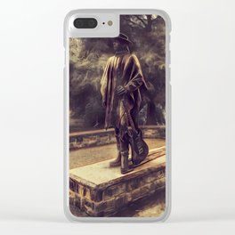 Stevie Ray Vaughan Statue - Austin, Texas - Graphic 2 Clear iPhone Case