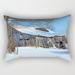 Old barn days Rectangular Pillow