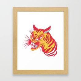 Tigerpop pattern Framed Art Print