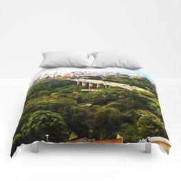 Green Santander. Comforters