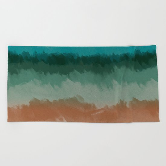 Sadness before the storm Beach Towel