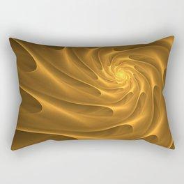 Gold Sahara. Hot desert. Sand dunes. Abstract golden spiral Rectangular Pillow