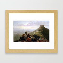 Jerome Thompson Belated Party Mansfield Mountain Framed Art Print