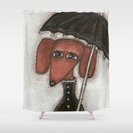 Fee under the umbrella Shower Curtain