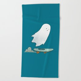 The Ghost Skater Beach Towel