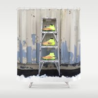nike Shower Curtains featuring Nike Tech Craft Pack by A&N2218