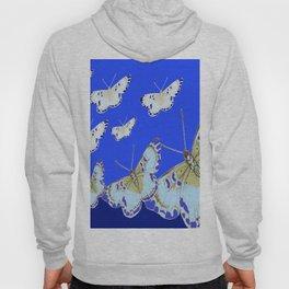 PATTERN OF BLUE & WHITE BUTTERFLIES MODERN ART Hoody