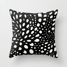 Mosaic Dots Black Ivory Throw Pillow