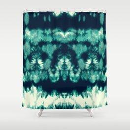 Shibori Neue Teal Shower Curtain
