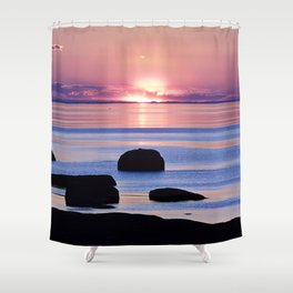 Saint-Lawrence River Sunset Shower Curtain