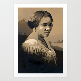Black Wealth - Madam C.J. Walker Black History Month Art Sarah Breedlove 554 Art Print