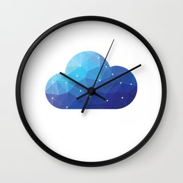 Cloud Of Data Wall Clock