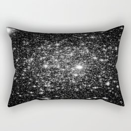 staRs Black & White Rectangular Pillow