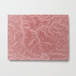 Ferning - Dusty Rose Metal Print