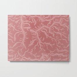 Ferning - Dusty Rose Metal Print