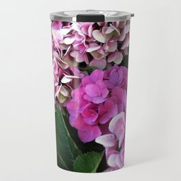Pink Hydrangas Travel Mug