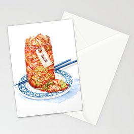 Kimchi watercolour food illustration Stationery Cards