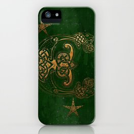Hunter and Gold Celtic iPhone Case