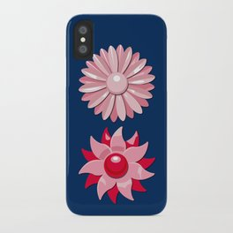 Jackie (Red on Blue) iPhone Case