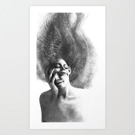 Masks by Iris Compiet Art Print