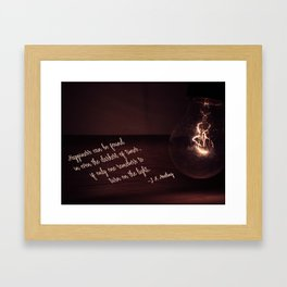 Darkness and Light Framed Art Print