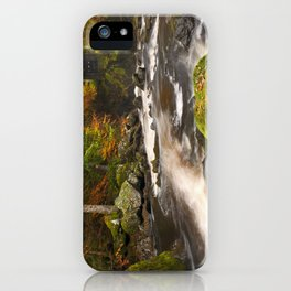 II - River through autumn colours at the Hermitage, Scotland iPhone Case