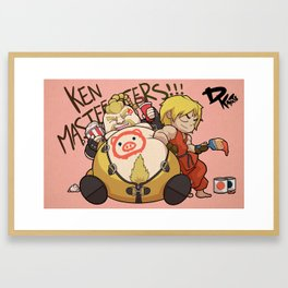 Ken Masters and Rufus Framed Art Print