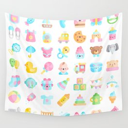 CUTE BABY PATTERN Wall Tapestry