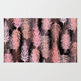 Feathered Blush Noir Rug