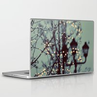 bokeh Laptop & iPad Skins featuring Winter Lights by elle moss