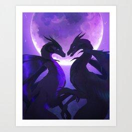 Moonlit Encounter Art Print