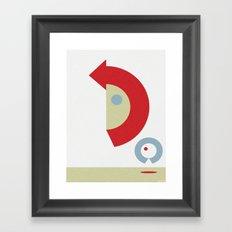 U-TURN Framed Art Print