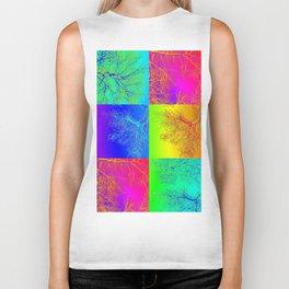 rainbow tree collage by Catherine Jacobs - Cathy of SheerJoy Biker Tank