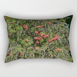 Romantic exotic flowers from the garden Rectangular Pillow