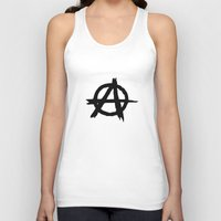 anarchy Tank Tops featuring Anarchy by Poppo Inc.