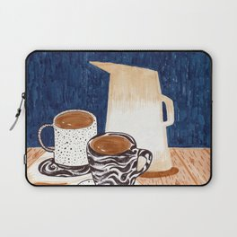 Coffee for Two Drawing by Amanda Laurel Atkins Laptop Sleeve