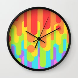 Rainbow Leak Wall Clock