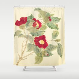 Red flowers , red flowers Shower Curtain