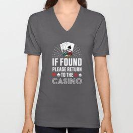 Return to the Casino Poker Gambling Gift Unisex V-Neck