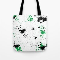 splatter Tote Bags featuring Splatter by Inphocus Photography