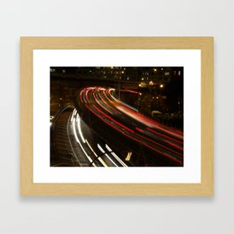 Brooklyn: BQE at Night Framed Art Print