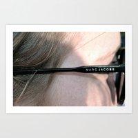 marc jacobs Art Prints featuring Marc Jacobs  by J_Vesce