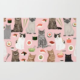Cat breeds pure bred cats sushi kawaii pet gifts cat person must haves Rug