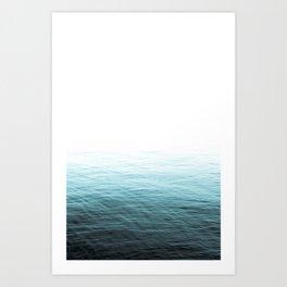 Vast Blue Ocean Art Print