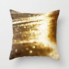 spun gold Throw Pillow