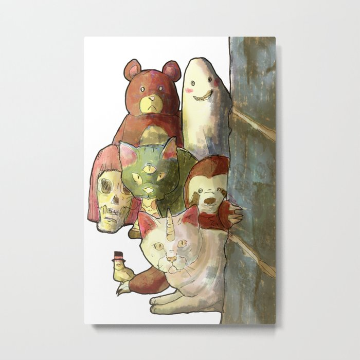 kawaii squad sloth catcorn unicat and friends! Metal Print