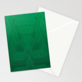 Round and About Emerald Stationery Cards
